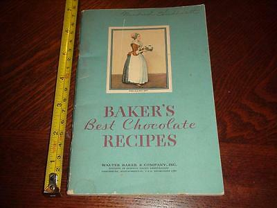 BR350 Vintage 1932 Baker's Chocolate Recipe Booklet