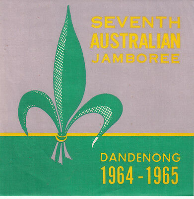 Scouts Australia linen artwork blanket patch for the 1964 Jamboree showing logo