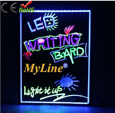 32''x24'' Large LED Writing Board with Remote Control (A Complete Set-6 Fluoresc