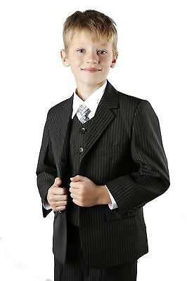 Boys Wedding Suit Black Pinstripe Christening Prom Ages 1 13 Years New Jasper