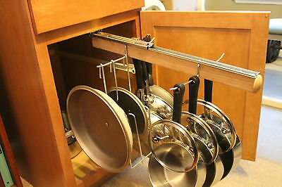 Legalized Pot Rack H/D Pull Out Hanging Pot and Pan Lid Rack Cookware Organizer