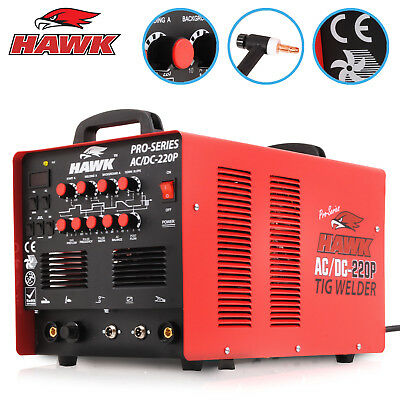 HAWK SINGLE 1 PHASE 220v 220A AC DC MMA TIG ARC PULSE HF INVERTER WELDING WELDER