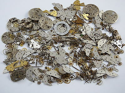 100g STEAMPUNK watch parts JEWELLERY ALTERED CRAFTS ART CYBERPUNK COGS GEARS
