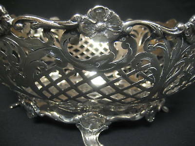 Sterling Silver Basket with Two Handles