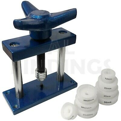 CASE CLOSING WATCH BACK PRESS HAND JIG 8 DIES 14-30mm REPAIR REPLACE TOOL
