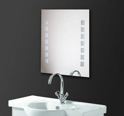 New LED Illuminated Bathroom Mirror with Switch Toilet Wall Light Makeup White