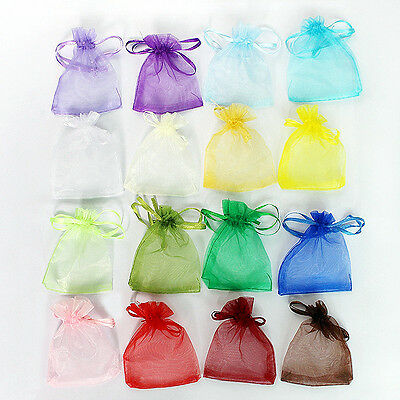 16 Colors Beautiful Organza Jewelry Wedding Gift Pouch Bags 7*9cm 2.7*3.5Inch Q