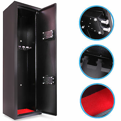 Heavy Duty Extra Large 6 Gun Hunting Scoped Rifle Shotgun Safe Vault Cabinet