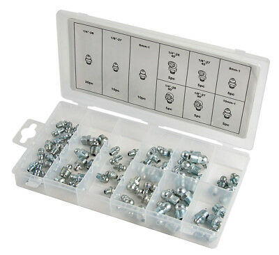 Trades Pro 70 Piece SAE/Metric Grease Fitting Assortment - 835913