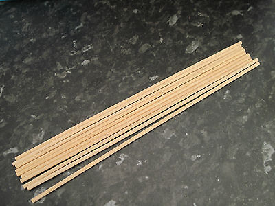 wooden dowel  4mm diameter x 300 mm approx length x 10 craft cake rods