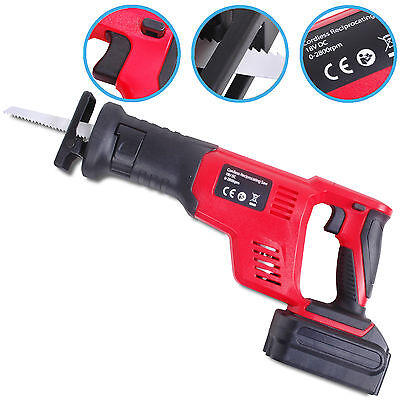 Heavy Duty Cordless 18V Reciprocating Power Sabre Wood Metal Pruning Saw Tool