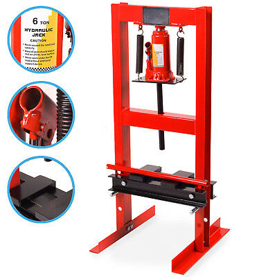 6 TON 6000kg HEAVY DUTY HYDRAULIC GARAGE WORKSHOP FLOOR STANDING SHOP PRESS KIT