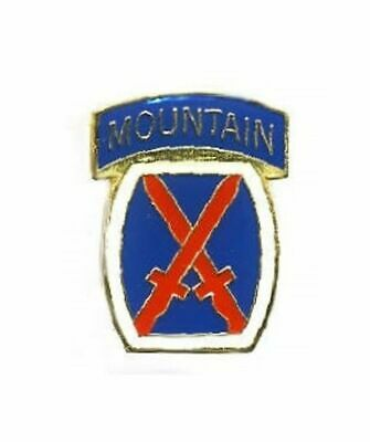 US Army 10th Mountain 2-Pack Lapel Pin Hat Tie Tac Brass CHN