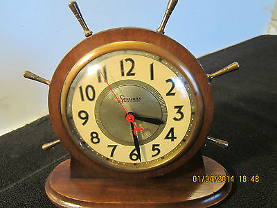 Vintage, Sessions Electric Ship's Wheel Clock