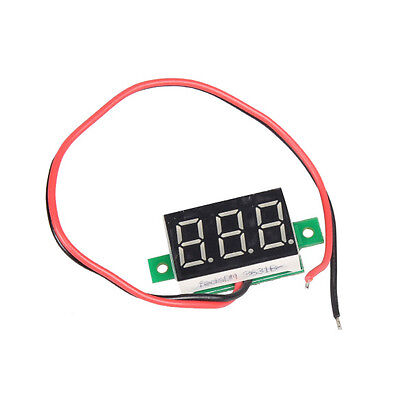 Mini Electric LED DC 2.5-30V Red 3 Digital Panel Voltmeter Volt Meter Display