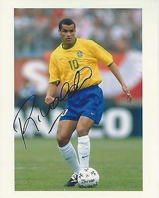 Rivaldo signed 10x8 Brazil photo Image A UACC registered dealer COA