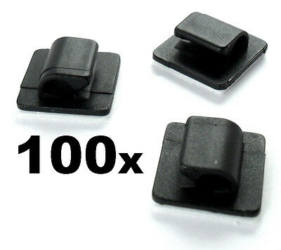 100x Self Adhesive Stick-on Mounts for Tidying / Routing Looms Wire & Cable
