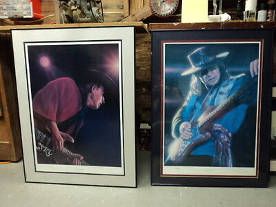 Stevie Ray Vaughan Framed Limited Edition Prints Set of 2-Signed/Numbered