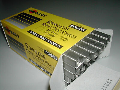 71 C Series Upholstery Staples 3/8 Length 3/8 Crown STAINLESS (10,000)