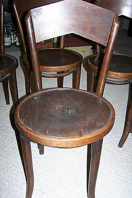 2 VINTAGE ANTIQUE CHAIRS ICE CREAM PARLOR STYLE OAKWOOD CHAIR CO