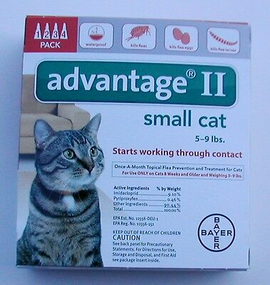 ADVANTAGE II for SM CATS 5-9lbs NEWEST FORMAT!!! FRESH STOCK!!! GREAT DEAL!!!