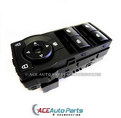 """New Black Power Window Switch For Holden Commodore VE """"Red Illumination"""""""