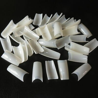 500 Natural French Acrylic False Nail Tips 10 Different Sizes TOP UK SELLER !