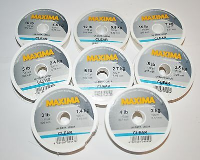 Maxima Mono Line - Clear or Green, 100mtr spools - 8 Breaking Strains available