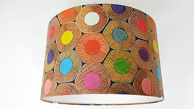 LAMPSHADE made from..MURIVA  COLOURED PENCIL END Wallpaper.J505-08  Handmade.