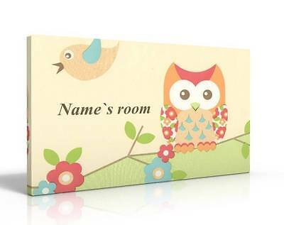 Personalised Door Sign / Name Plaque - Little Owl  New Free P&p