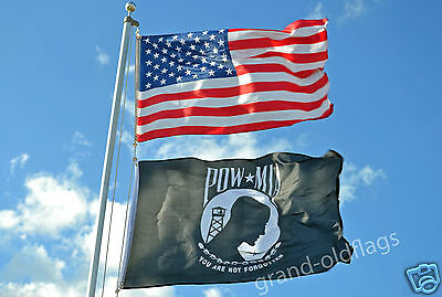 LOT 3' X 5' U.S.  AMERICAN & US  POW MIA  FLAG 3X5