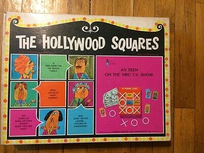 The Hollywood Squares NBC Board Game Heatter-Quigley 1967 Vintage & Complete