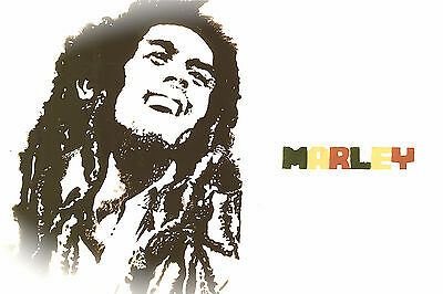 Orignial Hand-made Bob Marley Painting Poster Print 12 X 18 PlanetXXXI Designs