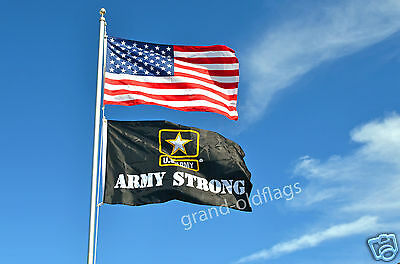 Lot 3'x5' U.s./ American & 3X5 Us Army Strong Flag