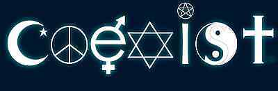 Coexist Sticker Bumper Sticker Laptop Sticker Toolbox Sticker Window Sticker