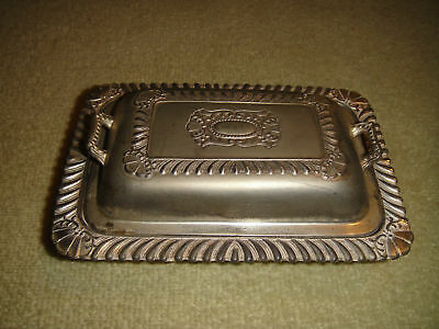 Vintage Amerexware Silver Plated Butter Or Caviar Dish-Made In Occupied Japan