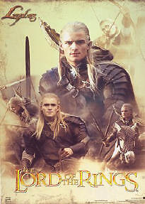 LORD OF THE RINGS ~ TRILOGY LEGOLAS COLLAGE 22x34 MOVIE POSTER Orlando Bloom