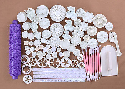 26 Styles Fondant Cake Decorating Mold Craft Pastry Cupcake Cutter Smoother Tool
