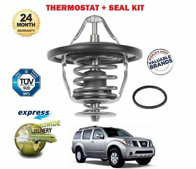 For Nissan Pathfinder 2.5 Dt Dci 2005-> Thermostat Kit + Seal Oe Quality