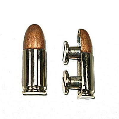 Bullet Concho Screwback Nickel & Copper Plated Tandy Leather 7404-00