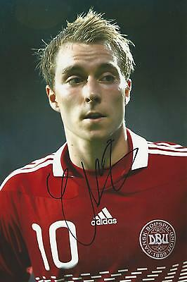 Christian Eriksen signed 12x8 photo Image A UACC Registered Dealer COA