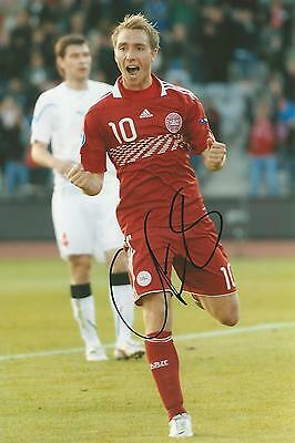 Christian Eriksen signed 12x8 photo Image B UACC Registered Dealer COA