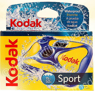 Kodak Sport Underwater - Waterproof DISPOSABLE 35mm Camera - BY Ist CLASS POST