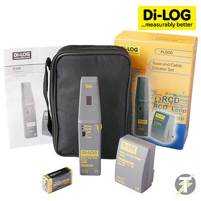 Di-Log PL500 Fuse & Cable Locator Transmitter & Receiver Kit w/ Case and Battery