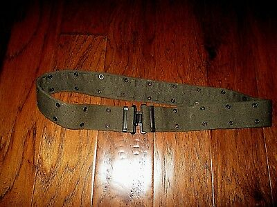 Dutch Military Combat Pistol Belt Heavy Web Od Green British Made P-37 Pattern