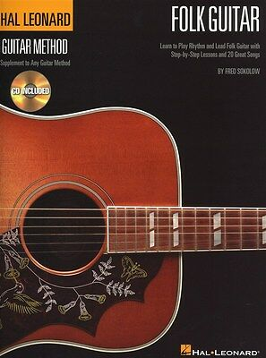 Hal Leonard Folk Guitar Method Gitarrentabulatur Notenbuch, CD