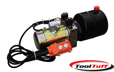 Double Acting DC Hydraulic Power Unit Pack, Remote, Dump Trailer Tipper 2950 psi