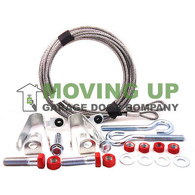 Garage Door 4 Inch Pulley Strap w//Containment Cable Offset and Nylon Bushing