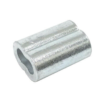 """100ea Aluminum Sleeves for Wire Rope 3/32"""""""