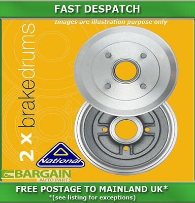 Rear Brake Drums For Vauxhall Movano 2.2 09/2000 - 05/2010 4980